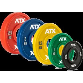 Obciążenia uretanowe fractional 50-PUCP ATX® olimpijskie | waga 0.5kg ÷ 2.5kg ATX® - 6 | klubfitness.pl