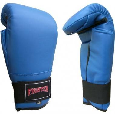 Rękawice przyrządówki wciągane Fighter W6 | niebieskie FIGHTER - 1 | klubfitness.pl