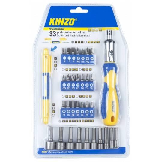 Śrubokręt wielofunkcyjny Kinzo 54202 | bit & socket 33el. Kinzo - 1 | klubfitness.pl