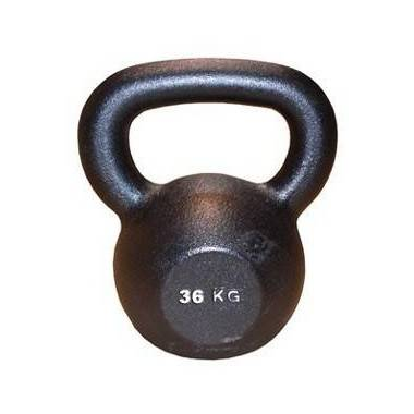 Hantla żeliwna BODYSOLID KETTLEBELL 36kg czarna,producent: BODY-SOLID, photo: 1