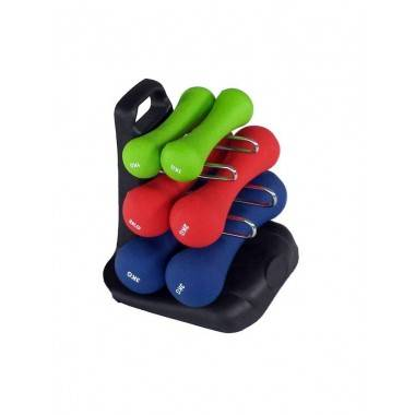 Zestaw hantli neoprenowych fitness ze stojakiem SPARTAN SPORT 2x 1kg, 2x 2kg, 2x 3kg,producent: SPARTAN SPORT, photo: 2