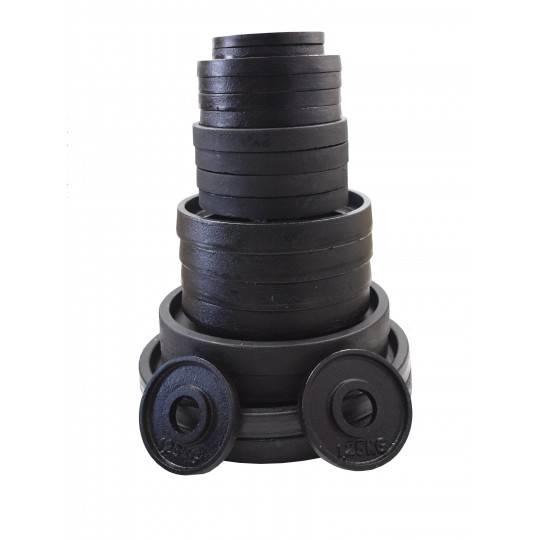 Zestaw obciążeń olimpijskich czarnych STAYER BO55 waga 52-5kg,producent: STAYER SPORT, photo: 1