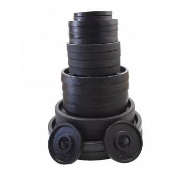Zestaw obciążeń olimpijskich czarnych STAYER BO55 waga 52-5kg,producent: Stayer Sport, zdjecie photo: 2 | online shop klubfitnes