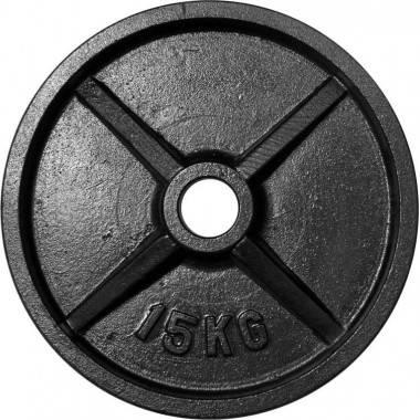 Zestaw obciążeń olimpijskich czarnych STAYER BO135 waga 135kg,producent: STAYER SPORT, photo: 5
