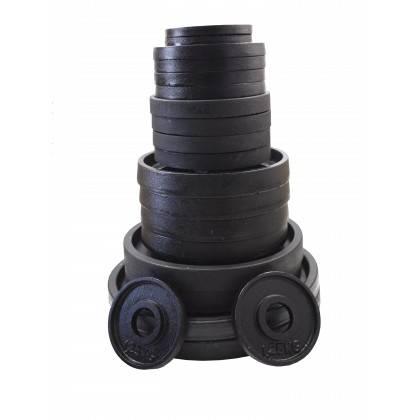 Zestaw obciążeń olimpijskich czarnych STAYER BO135 waga 135kg,producent: STAYER SPORT, photo: 6