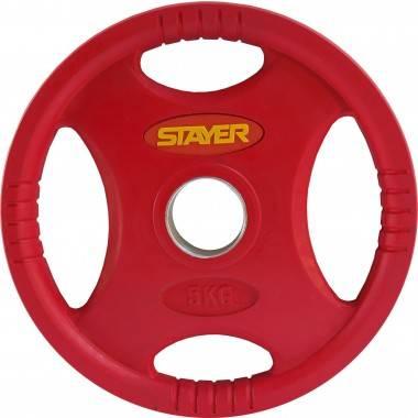 Obciążenie gumowane olimpijskie STAYER SPORT 5-0kg naturalna guma,producent: STAYER SPORT, photo: 1