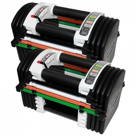 Hantle regulowane uretanowe PowerBlock U90 regulacja 2 - 22,5 kg / 2 - 33 kg / 2 - 41 kg / 2 - 57 kg,producent: POWER BLOCK, pho