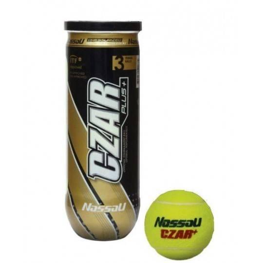 Piłki tenis ziemny w tubie Nassau CZAR PLUS | ITF Approved | 3sztuki NASSAU - 1 | klubfitness.pl