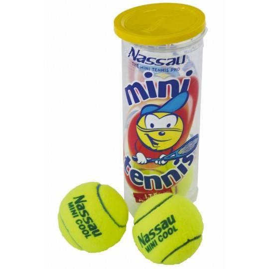 Piłki do tenisa ziemnego w tubie 3 szt NASSAU MINI COOL poziom 2 z obniżonym odbiciem,producent: NASSAU, photo: 1