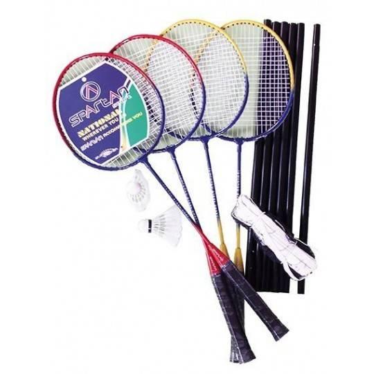 Zestaw do badmintona Spartan Sport PRO-5441 | 4 rakiety siatka lotki SPARTAN SPORT - 1 | klubfitness.pl