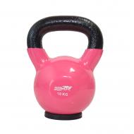 Hantla żeliwna winylowa kettlebell Stayer Sport 10 kg z gumową podstawą- różowa,producent: STAYER SPORT, photo: 1