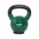 Hantla winylowa kettlebell STAYER SPORT 14 kg z gumową podstawą- zielona Stayer Sport - 1 | klubfitness.pl