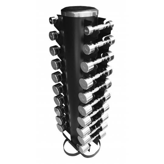 Zestaw hantli chromowanych ze stojakiem CB22 STAYER SPORT 1-10 kg co 1 kg,producent: STAYER SPORT, photo: 1