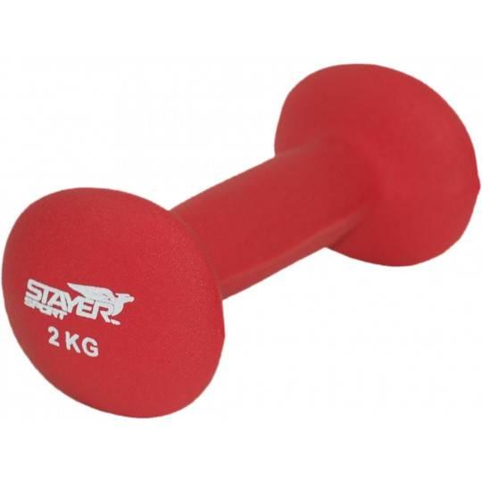 Hantla neoprenowa eliptyczna 2 kg STAYER SPORT,producent: Stayer Sport, zdjecie photo: 1 | online shop klubfitness.pl | sprzęt s