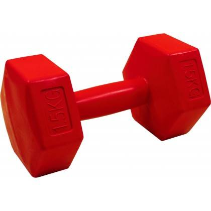 Hantla fitness cementowa Stayer Sport Hex 1,5kg | bitumiczna Stayer Sport - 1 | klubfitness.pl