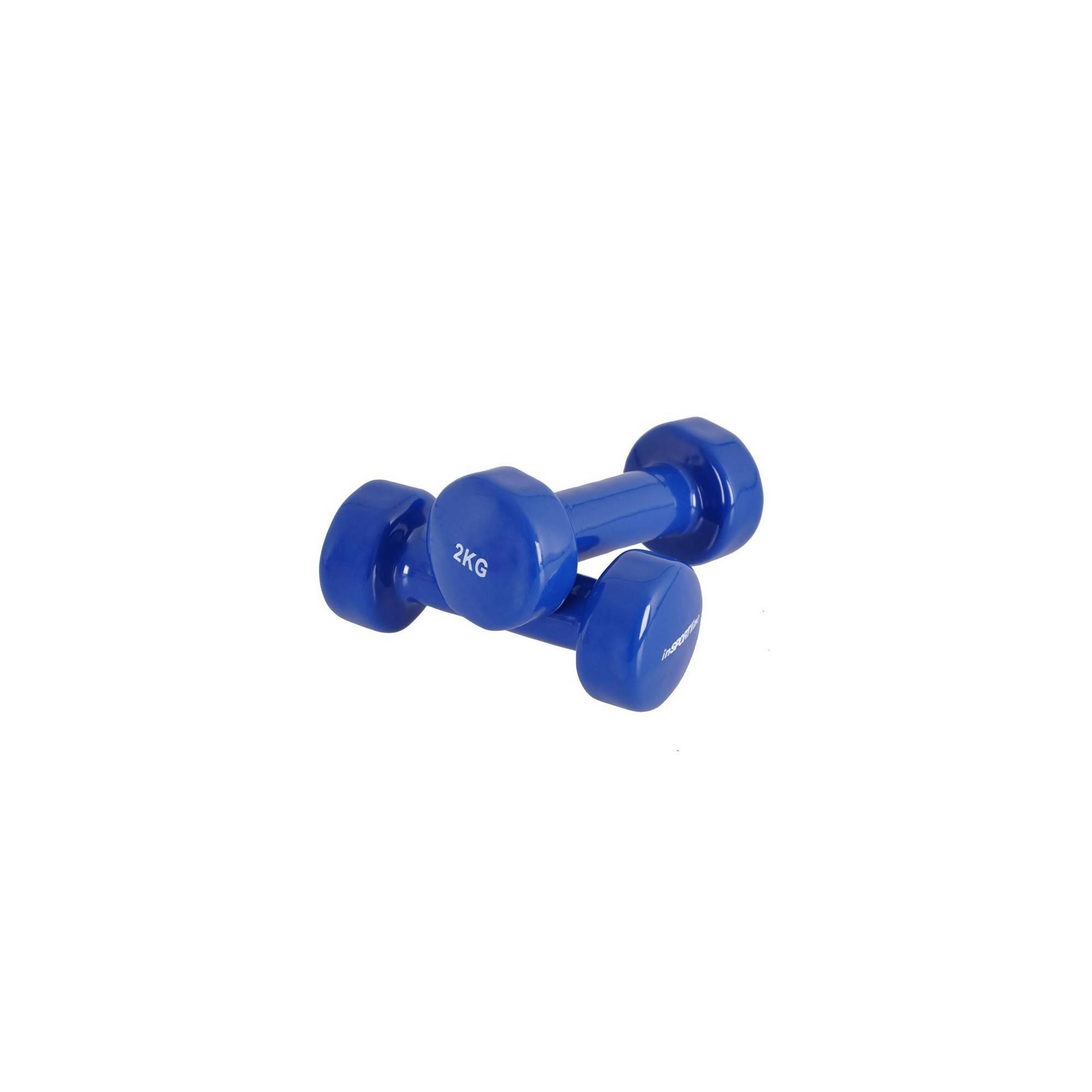 Zestaw hantli fitness INSPORTLINE z powłoką winylową 2x2kg niebieskie,producent: Insportline, zdjecie photo: 1 | online shop klu