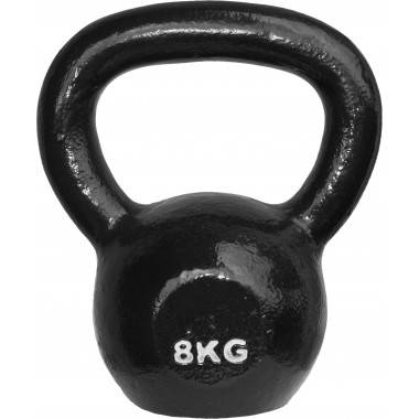 Hantla żeliwna BODYSOLID KETTLEBELL KB08 8kg czarna,producent: BODY-SOLID, photo: 1