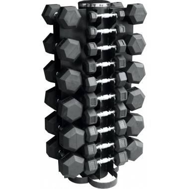 Zestaw hantli gumowanych Hex ze stojakiem Stayer Sport 1 - 10 kg + 12-5 - 20 kg,producent: Stayer Sport, zdjecie photo: 2 | onli