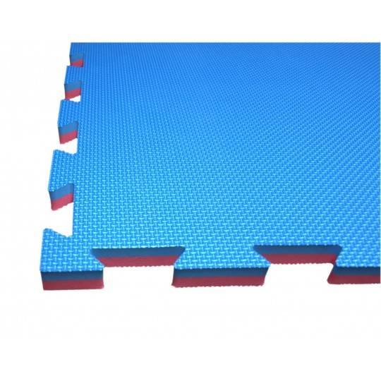 Mata amortyzująca puzzle 100x100x2,5cm 1szt SPARTAN SPORT NIEBIESKO-CZERWONA,producent: SPARTAN SPORT, photo: 1