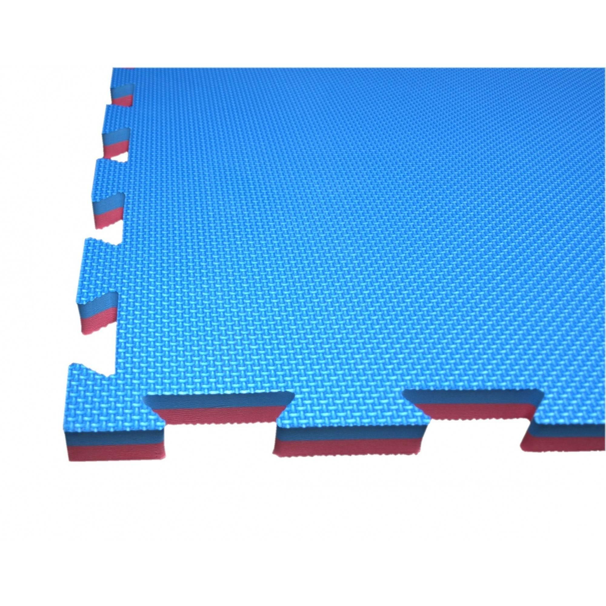 Mata amortyzująca puzzle 100x100x2,5cm 1szt SPARTAN SPORT NIEBIESKO-CZERWONA,producent: SPARTAN SPORT, zdjecie photo: 1 | online