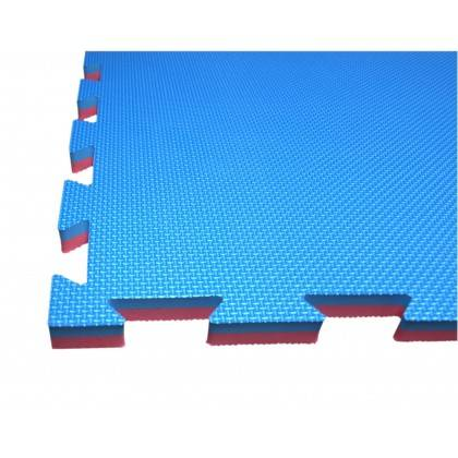 Mata amortyzująca puzzle 100x100x2,5cm 1szt SPARTAN SPORT NIEBIESKO-CZERWONA,producent: SPARTAN SPORT, zdjecie photo: 2 | online