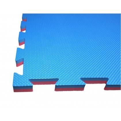 Mata amortyzująca puzzle 100x100x2,5cm 1szt SPARTAN SPORT NIEBIESKO-CZERWONA,producent: SPARTAN SPORT, photo: 2