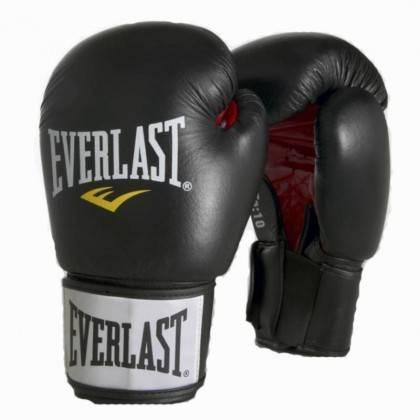 Rękawice bokserskie 10 oz, 12 oz, 14 oz EVERLAST ERGO 6000-PU czarne,producent: EVERLAST, photo: 1