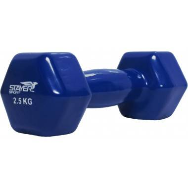 Hantla fitness winylowa 2,5 kg HEX STAYER SPORT niebieska,producent: STAYER SPORT, photo: 2