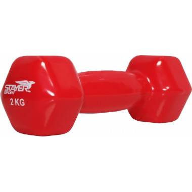 Hantla fitness winylowa Stayer Sport Hex | 2kg,producent: Stayer Sport, zdjecie photo: 2 | online shop klubfitness.pl | sprzęt s