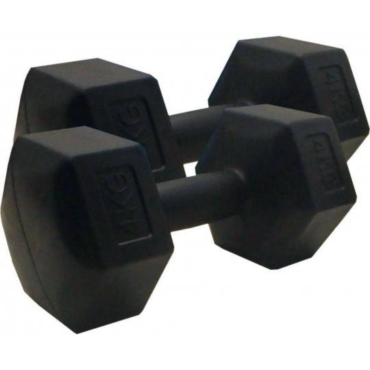 Hantla fitness cementowa 4kg HEX STAYER SPORT hantelka bitumiczna,producent: STAYER SPORT, photo: 1
