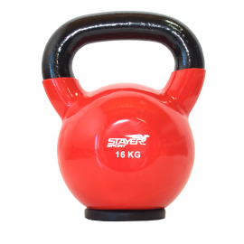 Hantla winylowa kettlebell  STAYER SPORT 16 kg z gumową podstawą- czerwona,producent: Stayer Sport, zdjecie photo: 1 | online sh