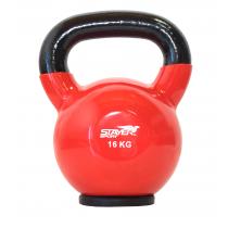 Hantla winylowa kettlebell STAYER SPORT 16 kg z gumową podstawą- czerwona Stayer Sport - 1 | klubfitness.pl