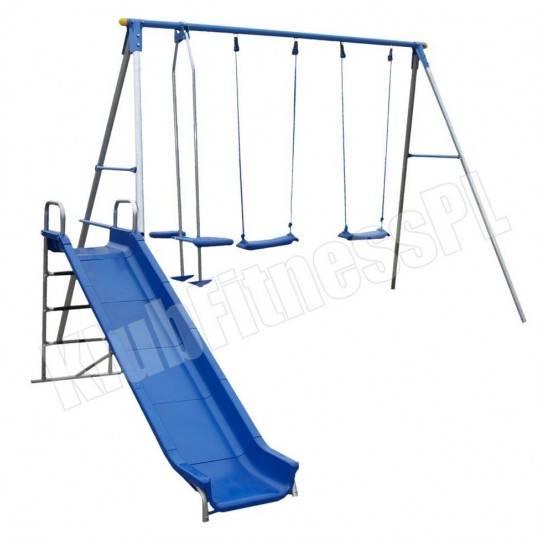 Huśtawka cztery stanowiska i zjeżdżalnia SPARTAN SPORT plac zabaw,producent: SPARTAN SPORT, photo: 1