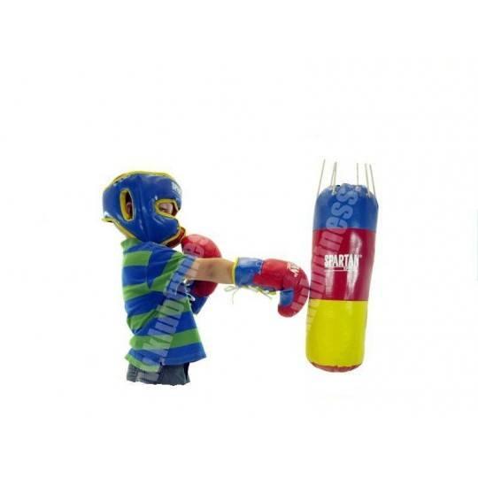 Zestaw bokserski dla dzieci SPARTAN SPORT worek, rękawice 8oz, kask,producent: SPARTAN SPORT, zdjecie photo: 1 | online shop klu