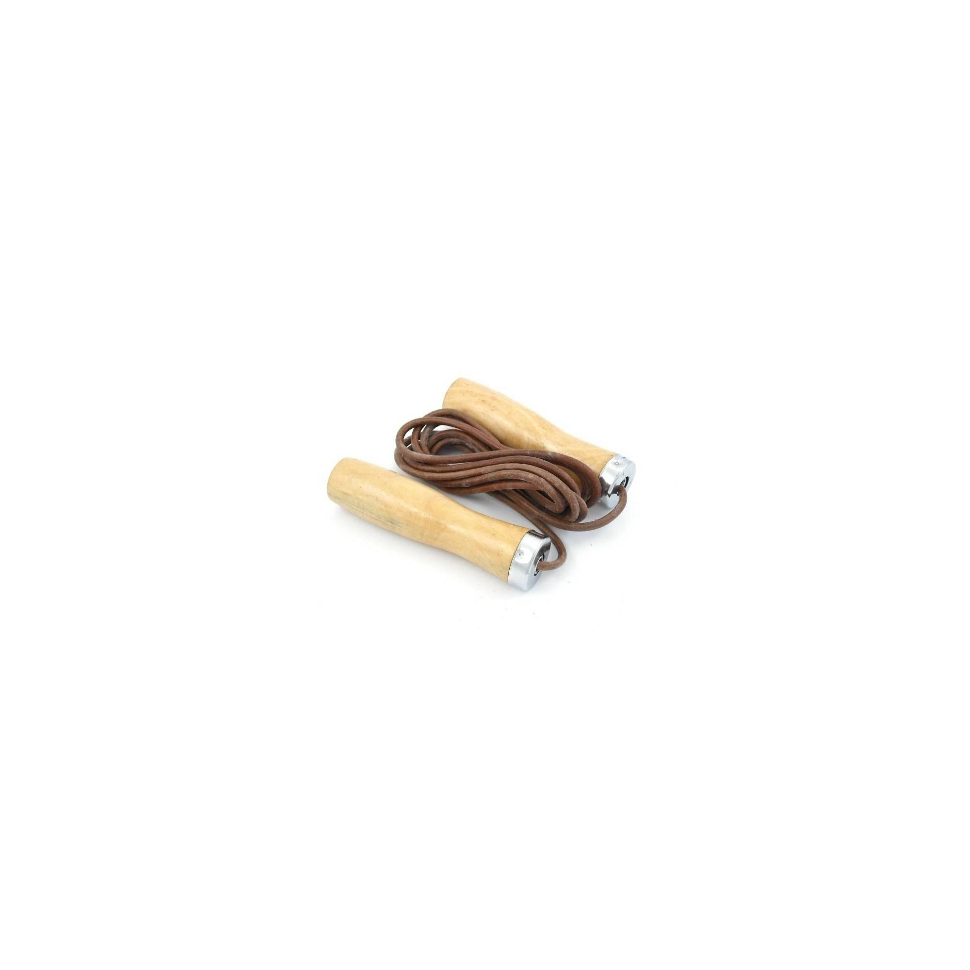 Skakanka Allright skórzana z łożyskowanymi drewnianymi rączkami - rzemień,producent: ALLRIGHT, photo: 1