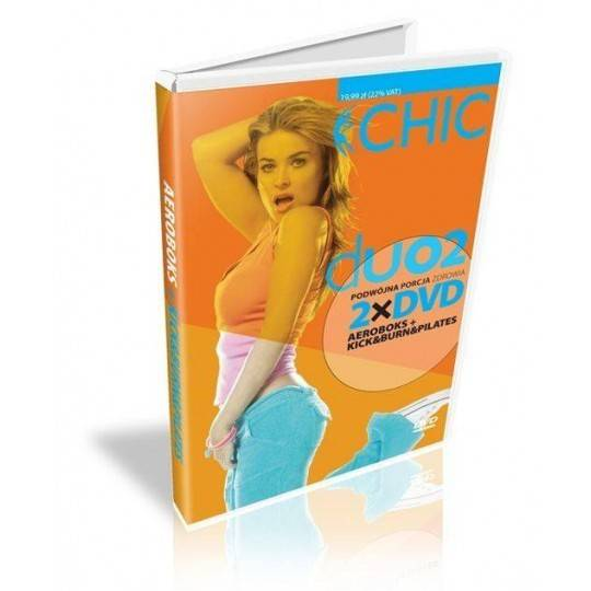 Ćwiczenia instruktażowe DVD DUO Aeroboks + Kick & Burn Pilates,producent: MayFly, zdjecie photo: 1 | klubfitness.pl | sprzęt spo