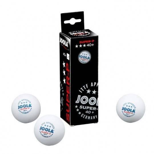 Piłeczki do tenisa stołowego JOOLA SUPER-P białe 3 sztuki ITTF Joola - 1 | klubfitness.pl