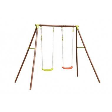 Huśtawka ogrodowa metalowa dla dzieci DISCOVERER dwa stanowiska,producent: , photo: 1