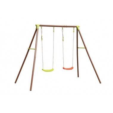 Huśtawka ogrodowa metalowa dla dzieci DISCOVERER dwa stanowiska,producent: , photo: 5