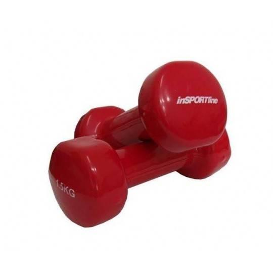 Hantla fitness winylowa 1.5kg INSPORTLINE czerwona,producent: INSPORTLINE, photo: 1