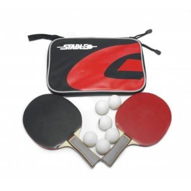 Zestaw do gry w tenisa stołowego STABLE dwie rakietki, sześć piłeczek i pokrowiec,producent: Stable, zdjecie photo: 1 | online s