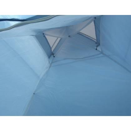 Namiot turystyczny czteroosobowy DUNLOP dwuwarstwowy niebiesko-szary Dunlop - 3 | klubfitness.pl