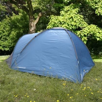 Namiot turystyczny czteroosobowy DUNLOP dwuwarstwowy niebiesko-szary Dunlop - 7 | klubfitness.pl