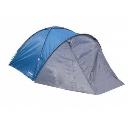 Namiot turystyczny czteroosobowy DUNLOP dwuwarstwowy niebiesko-szary Dunlop - 1 | klubfitness.pl