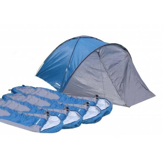 Zestaw turystyczny DUNLOP namiot czteroosobowy i cztery śpiwory,producent: Dunlop, zdjecie photo: 1 | online shop klubfitness.pl