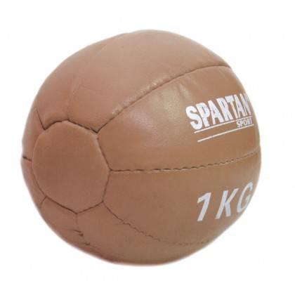 Piłka lekarska 1kg Spartan Sport   naturalna skóra SPARTAN SPORT - 1   klubfitness.pl