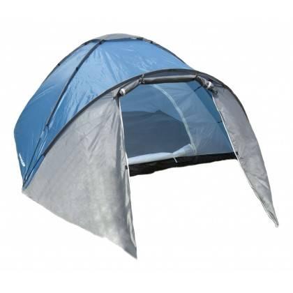Namiot turystyczny czteroosobowy DUNLOP dwuwarstwowy niebiesko-szary Dunlop - 2 | klubfitness.pl