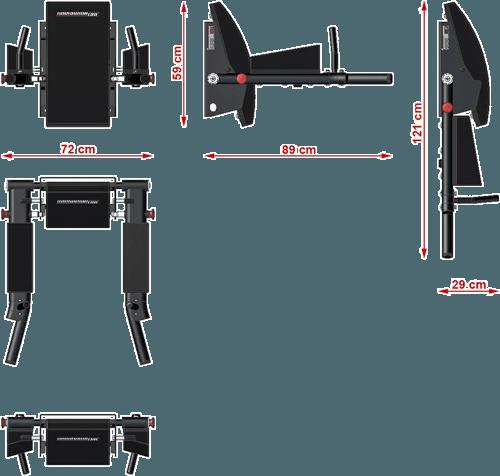 Stanowisko dipping ATX DBA-750 | wymiary