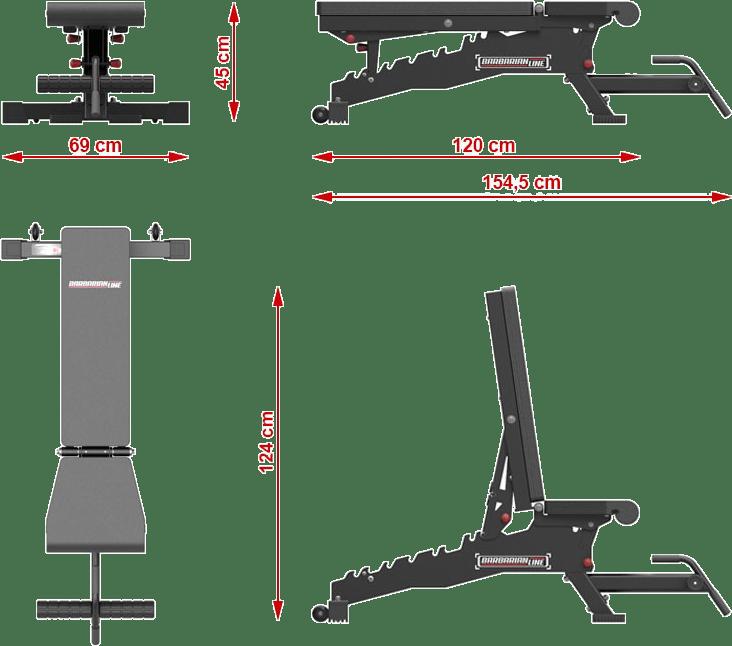 Barbarian-Line BB-9064-MB | wymiary gabarytowe
