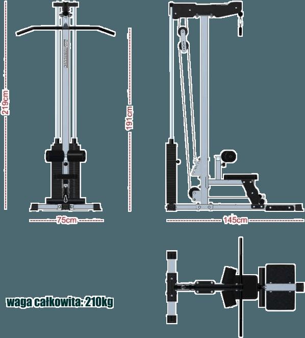 Wyciąg ze stosem 125kg Barbarian-Line BB-9070